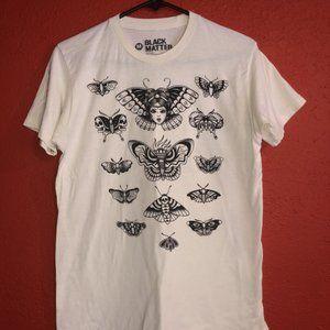 Black Matter Death Moth Girl Medium Tshirt